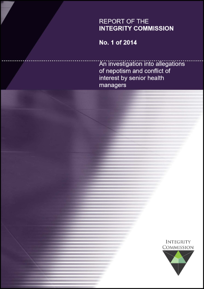 Cover of report 1 of 2014