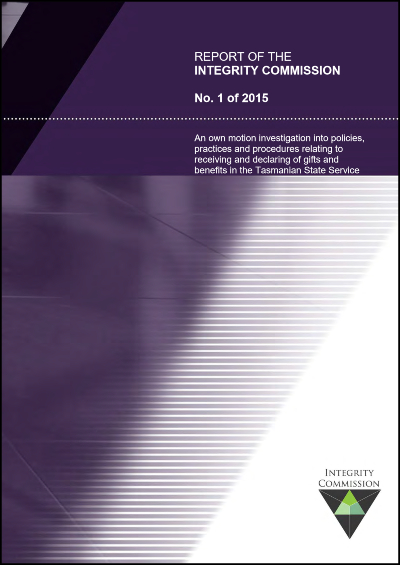 Cover of report 1 of 2015