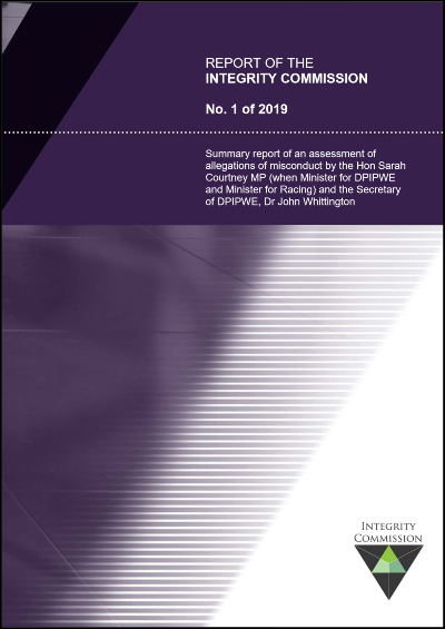 Cover of Report 1 of 2019