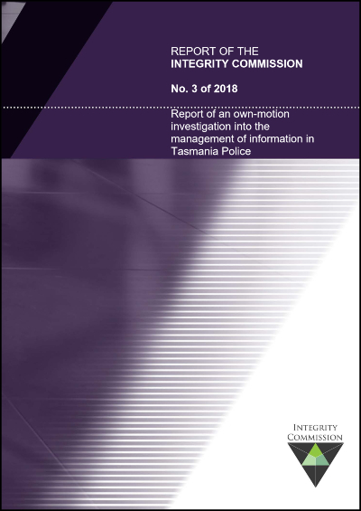Cover of report 2 of 2018